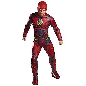 Flash Justice League Deluxe costume men's Carnival comics superhero