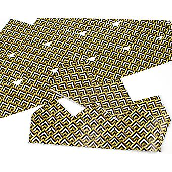 Art Deco Tile Adjustable Paper Hats for Crackers - 10 or 25 Pack