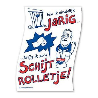 Toiletpapier schijtrolletje nr22