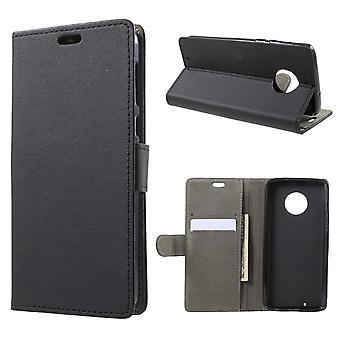 Motorola Moto G6 Crazy Horse Wallet Case Black
