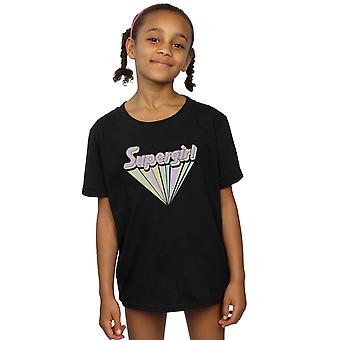 DC Comics Girls Supergirl Pastel Logo T-Shirt