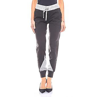 Laura Scott cool ladies jogging pants with pin-striped black