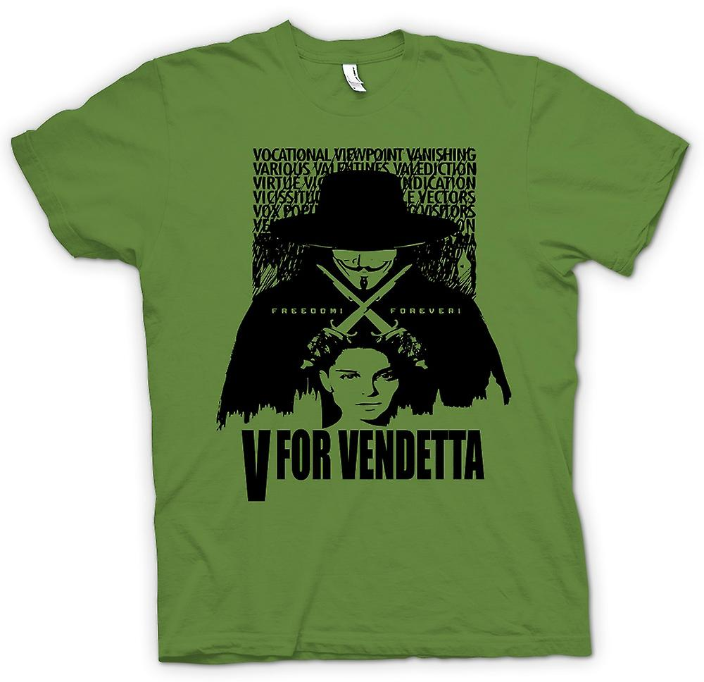Mens T-shirt-V For Vendetta - Big Brother - film