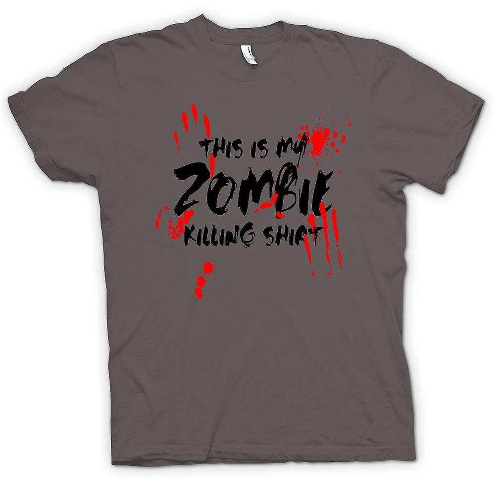Womens T-shirt - dit Is mijn Zombie Killing - grappig