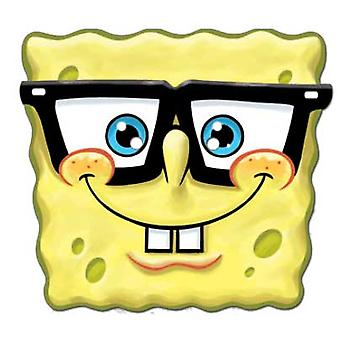 Spongebob Goofy Spectacles Card Face Mask