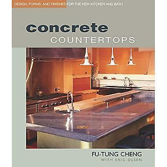 Comptoirs en béton: Conception, formes et finitions pour la nouvelle cuisine un