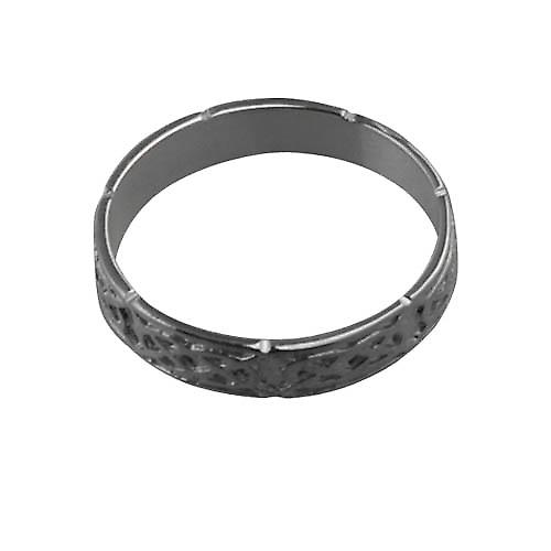 18ct White Gold 4mm Celtic Wedding Ring Size S