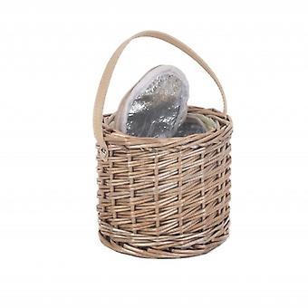 Antique Wash Wicker Mini Ice Basket