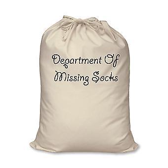 Departamento de desaparecidos calcetines bolsa 100% algodón Natural