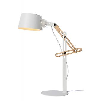 Lucide Kreen Modern Metal White And Brown Desk Lamp