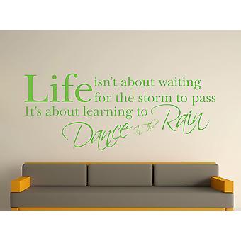 Danse i regnen væg kunst klistermærke - Apple Green