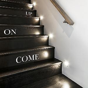 Come on up stair sticker