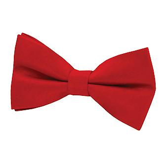 Dobell Mens Red Bow Tie Dupion Satin-Feel Pre-Tied