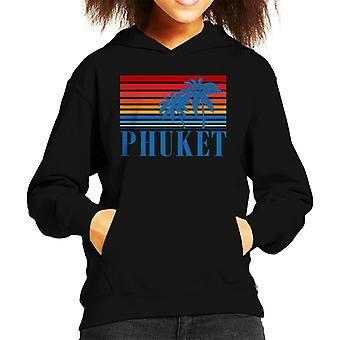 Phuket Retro 70s Sunset Kid's Hooded Sweatshirt