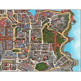 Mapa de rua Cityscapes de Plymouth 400 Piece Jigsaw Puzzle 470 x 320 mm (feliz)