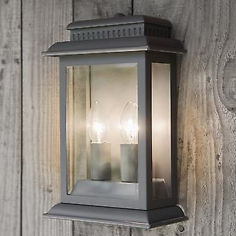 Garden Trading Belvedere Lantern In Charcoal IP44 Rated