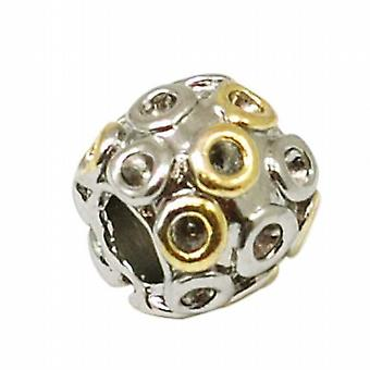TOC BEADZ Two Tone Bubbles 9mm Slide-On Off Charm Bead