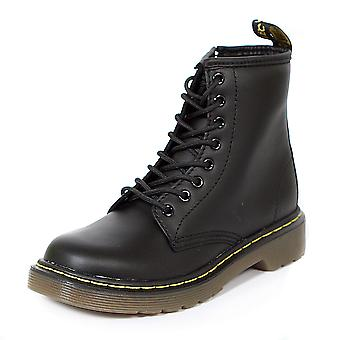 Dr. Martens Junior Smooth Leather Lace Up / Zip Boot Black Softy