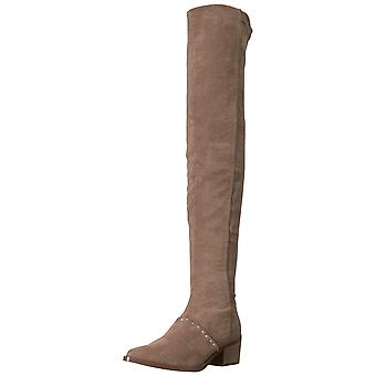 Report Womens Zaria Satin Pointed Toe Over Knee Fashion Boots
