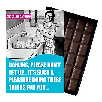 Funny Birthday Gift For Boyfriend Husband Man Boxed Chocolate Greeting Card Present CDL106