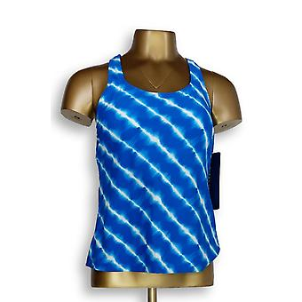 Ocean Dream Signature Swimsuit Island Tie Dye Top Bright Blue A345669
