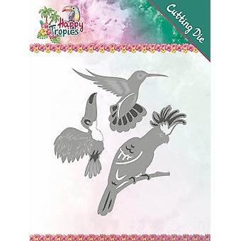 Trouver Yvonne Créations Die-Exotic Birds, Happy Tropics