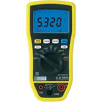 Handheld multimeter digital Chauvin Arnoux CA5233 Calibrated to: Manufacturer standards CAT IV 600 V Display (counts):
