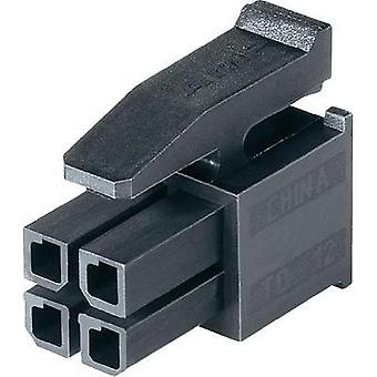 Socket enclosure - cable Micro-MATE-N-LOK Total number of pins 24 TE Connectivity 2-794617-4 Contact spacing: 3 mm 1 pc(