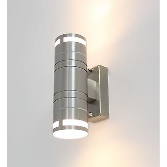 Effect lamp, Wall lamp, UP down, stainless steel, Kiom Finn 10487