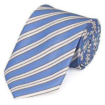 By Fabio Farini striped tie in Blau Weiß gold