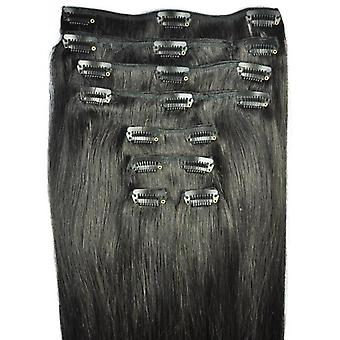 FULL HEAD of 100% Human Hair, Triple Weft, REMY Clip-in Hair Extensions #1