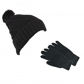 KITSOUND Headphone Beanie Kit incl mitten Black