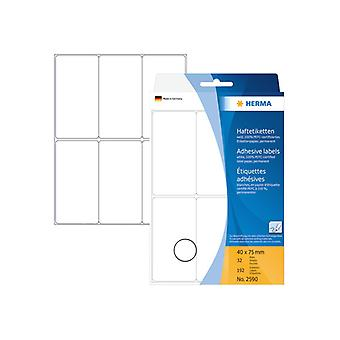 Multi-purpose labels Herma 40x75mm white 192 pcs.