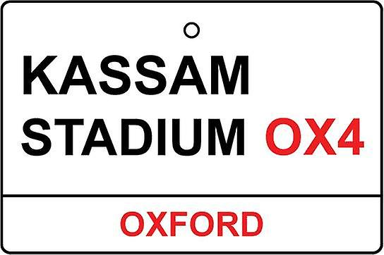 Oxford / Kassam Stadium Street Sign Car Air Freshener