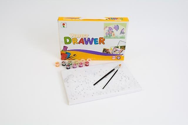 Childrens Asst Drawing Set Which Includes Paint And Brushes