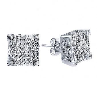 925 MICRO PAVE earrings - CUBIC 10 mm
