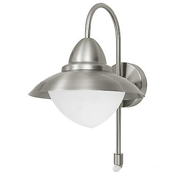 Eglo Sidney1 Light Traditional Outdoor Wall Light Stainless Stee