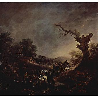 Thomas Gainsborough - Dark Skies Poster Print Giclee