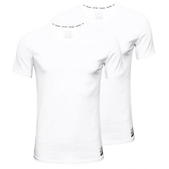 Calvin Klein ID 2-Pack Slim-Fit Crew-Neck T-Shirts, White
