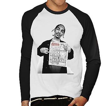 Snoop Dogg Daily Star krant mannen honkbal lange mouwen T-Shirt