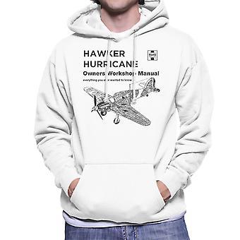 Haynes eigenaren Workshop handmatige Hawker Hurricane VW mannen Hooded Sweatshirt