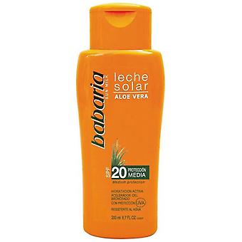 Babaria Aloe Vera Sun Cream SPF20 Medium Protection 200 Ml