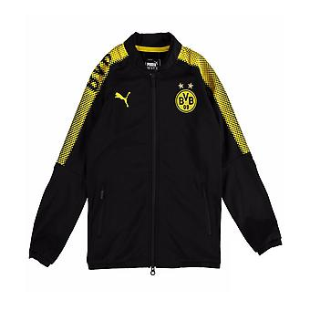 2017-2018 Borussia Dortmund Puma Poly Jacket (Black) - Kids