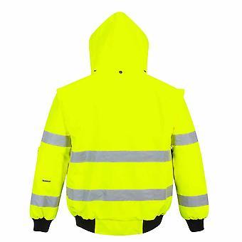 Portwest - Hi-Vis Safety Workwear 3-in-1 Bomber Jacket