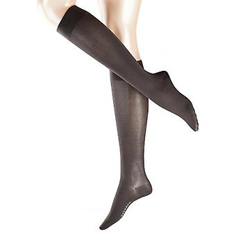 Falke Cotton Touch Knee High Socks - Anthracite Grey