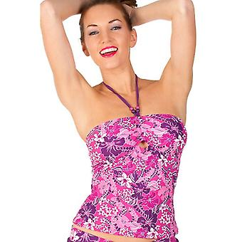 Camille Womens Floral Swimwear Ladies Bandeau Tankini