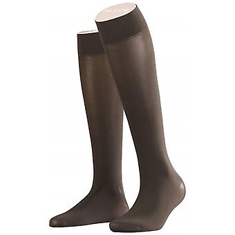 Falke Pure Matte 50 Denier Semi Opaque Knee High Tights - Anthracite Grey
