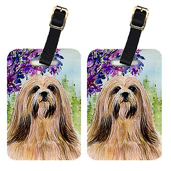 Carolines Treasures  SS8436BT Pair of 2 Lhasa Apso Luggage Tags