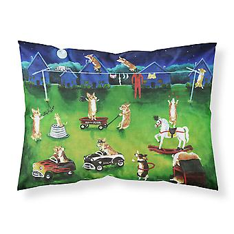 Corgi Backyard Circus Fabric Standard Pillowcase