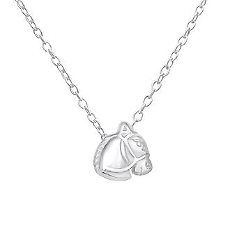 Horse head - 925 Sterling Silver Plain Necklaces - W18525X
